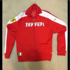 PUMA Scuderia Ferrari Zip Up Track Jacket Size XL